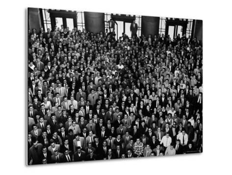 MIT Graduating Class of 1956-Gjon Mili-Metal Print