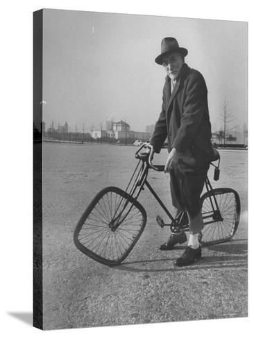 Eccentric Square-Wheeled Bicycle-Wallace Kirkland-Stretched Canvas Print