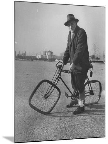 Eccentric Square-Wheeled Bicycle-Wallace Kirkland-Mounted Photographic Print
