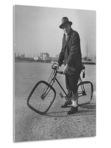 Eccentric Square-Wheeled Bicycle-Wallace Kirkland-Metal Print