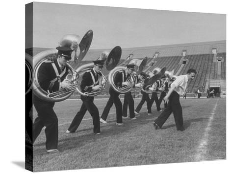 Marching Band Going Through Their Routines During Bands of America-Alfred Eisenstaedt-Stretched Canvas Print