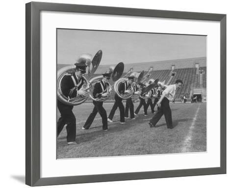 Marching Band Going Through Their Routines During Bands of America-Alfred Eisenstaedt-Framed Art Print
