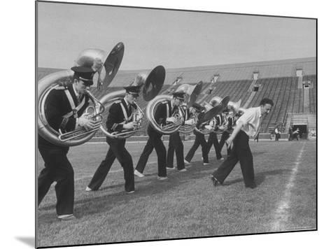 Marching Band Going Through Their Routines During Bands of America-Alfred Eisenstaedt-Mounted Photographic Print