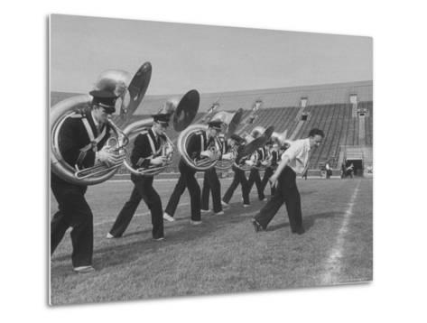 Marching Band Going Through Their Routines During Bands of America-Alfred Eisenstaedt-Metal Print