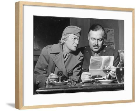 Ernest Hemingway and Janet Flanner-David Scherman-Framed Art Print