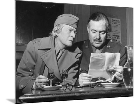 Ernest Hemingway and Janet Flanner-David Scherman-Mounted Premium Photographic Print