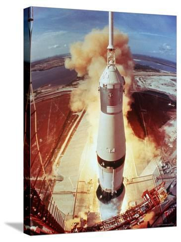 Apollo 11 Space Ship Lifting Off on Historic Flight to Moon-Ralph Morse-Stretched Canvas Print