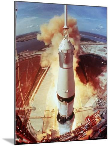 Apollo 11 Space Ship Lifting Off on Historic Flight to Moon-Ralph Morse-Mounted Photographic Print