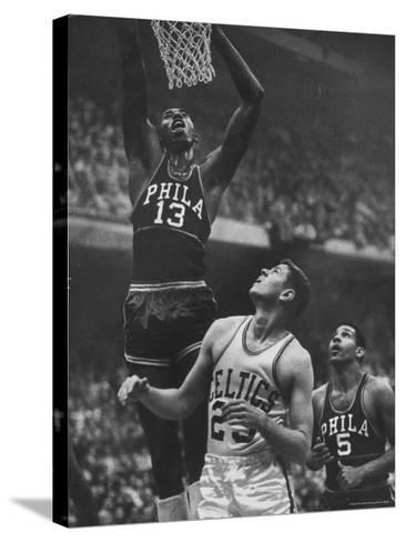 Basketball Player Wilt Chamberlain-George Silk-Stretched Canvas Print