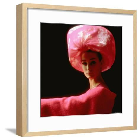 Studio Picture of Model clothing by Pierre Cardin for His 1962 Collection-Paul Schutzer-Framed Art Print