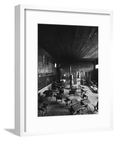 Sub Standard Grade School Classroom at African American School, the Effect of Segregation-Gordon Parks-Framed Art Print