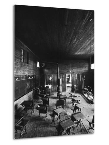 Sub Standard Grade School Classroom at African American School, the Effect of Segregation-Gordon Parks-Metal Print