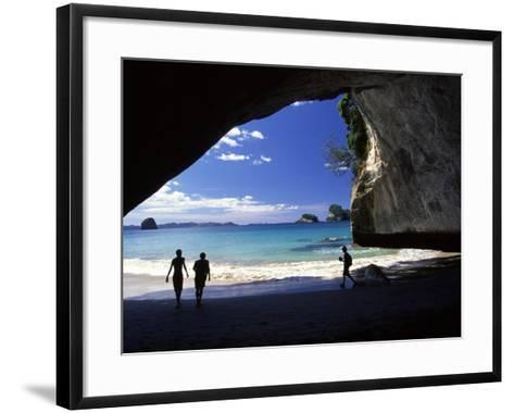 Cathedral Cove, Coromandel Peninsula-David Wall-Framed Art Print