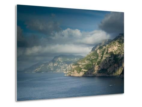 Morning View of the Amalfi Coast, Positano, Campania, Italy-Walter Bibikow-Metal Print