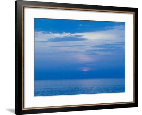 Sunset over the Tyrrhenian Sea, Forio, Ischia, Bay of Naples, Campania, Italy-Walter Bibikow-Framed Art Print
