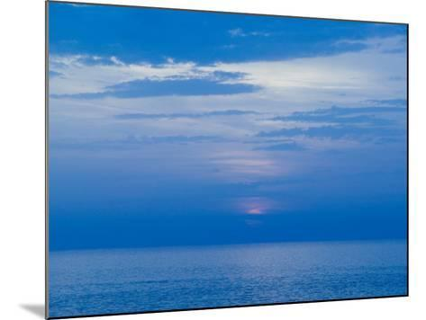 Sunset over the Tyrrhenian Sea, Forio, Ischia, Bay of Naples, Campania, Italy-Walter Bibikow-Mounted Photographic Print