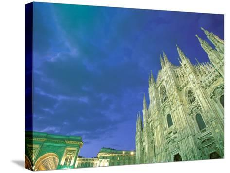 The Duomo, Lombardia, Milan, Italy-Walter Bibikow-Stretched Canvas Print