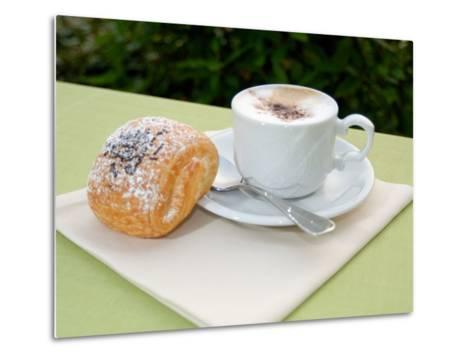 Morning Cappuccino at Eden Grand Hotel, Lake Lugano, Lugano, Switzerland-Lisa S^ Engelbrecht-Metal Print