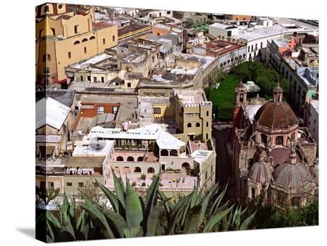 City View Including the Church of San Diego, Guadalajara, Mexico-Charles Sleicher-Stretched Canvas Print