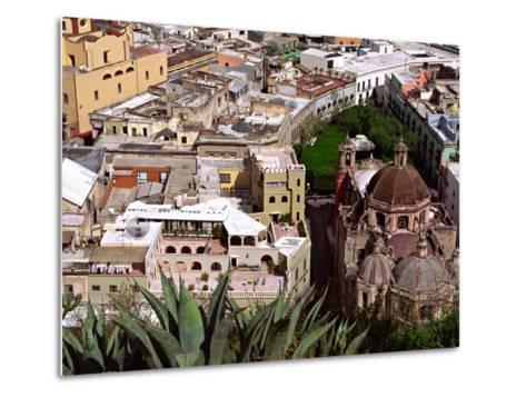 City View Including the Church of San Diego, Guadalajara, Mexico-Charles Sleicher-Metal Print