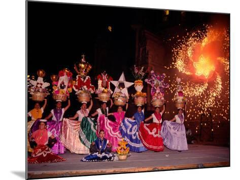 Dance and Fireworks called Bani Stui Gulal Tells the Story of the Guelaguetza, Oaxaca, Mexico-Igal Judisman-Mounted Photographic Print