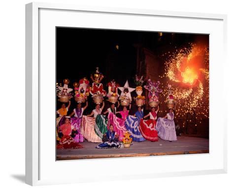 Dance and Fireworks called Bani Stui Gulal Tells the Story of the Guelaguetza, Oaxaca, Mexico-Igal Judisman-Framed Art Print