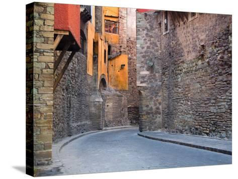 Subterranean Street with Houses Built Above, Guanajuato, Mexico-Julie Eggers-Stretched Canvas Print