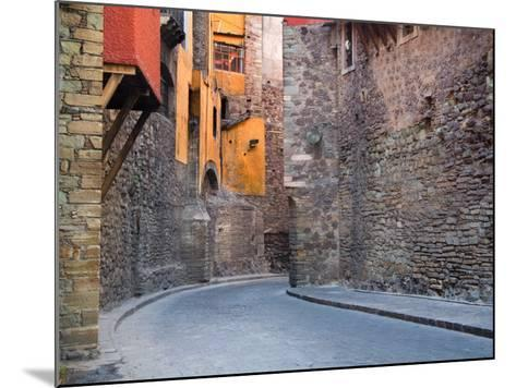 Subterranean Street with Houses Built Above, Guanajuato, Mexico-Julie Eggers-Mounted Photographic Print