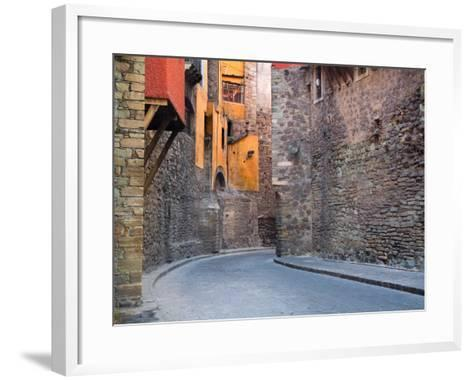Subterranean Street with Houses Built Above, Guanajuato, Mexico-Julie Eggers-Framed Art Print