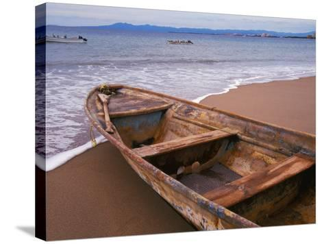 Wooden Boat Looking Out on Banderas Bay, The Colonial Heartland, Puerto Vallarta, Mexico-Tom Haseltine-Stretched Canvas Print