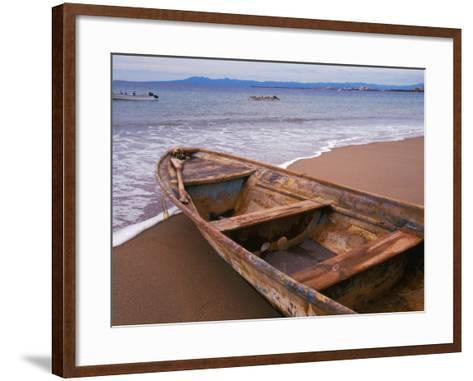 Wooden Boat Looking Out on Banderas Bay, The Colonial Heartland, Puerto Vallarta, Mexico-Tom Haseltine-Framed Art Print