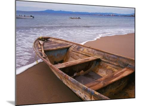 Wooden Boat Looking Out on Banderas Bay, The Colonial Heartland, Puerto Vallarta, Mexico-Tom Haseltine-Mounted Photographic Print