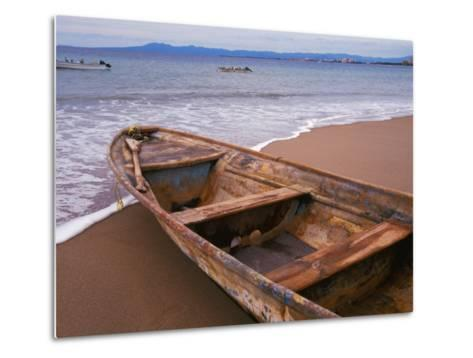 Wooden Boat Looking Out on Banderas Bay, The Colonial Heartland, Puerto Vallarta, Mexico-Tom Haseltine-Metal Print