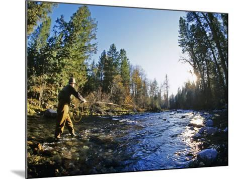 Fly-fishing the Jocko River, Montana, USA-Chuck Haney-Mounted Photographic Print