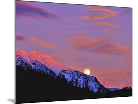 Full Moonrise over Cloudcroft Peaks, Glacier National Park, Montana, USA-Chuck Haney-Mounted Photographic Print