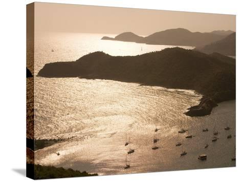 English Harbour at Sunset from Shirley Heights, English Harbour, Antigua & Barbuda-Holger Leue-Stretched Canvas Print