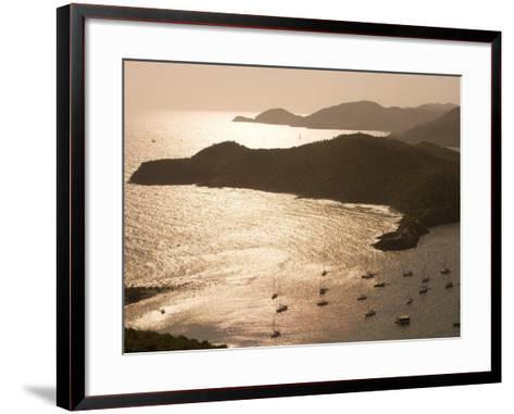English Harbour at Sunset from Shirley Heights, English Harbour, Antigua & Barbuda-Holger Leue-Framed Art Print