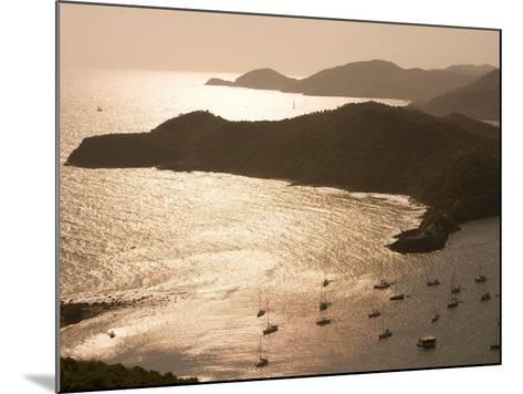 English Harbour at Sunset from Shirley Heights, English Harbour, Antigua & Barbuda-Holger Leue-Mounted Photographic Print
