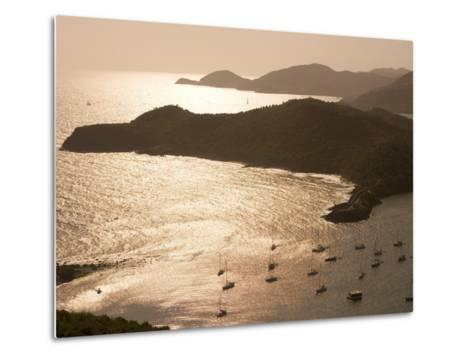 English Harbour at Sunset from Shirley Heights, English Harbour, Antigua & Barbuda-Holger Leue-Metal Print
