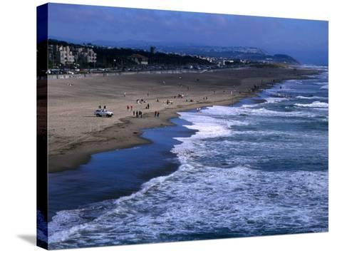 Wild Waves on Ocean Beach Seen from Sutro Heights Park, Outer Richmond, San Francisco, USA-Glenn Beanland-Stretched Canvas Print