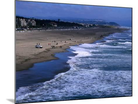 Wild Waves on Ocean Beach Seen from Sutro Heights Park, Outer Richmond, San Francisco, USA-Glenn Beanland-Mounted Photographic Print