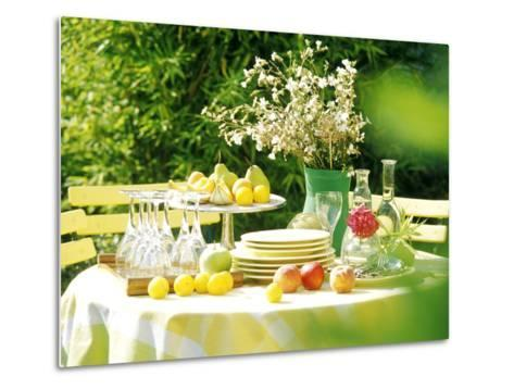 Table with Tablecloth Set-Martine Mouchy-Metal Print