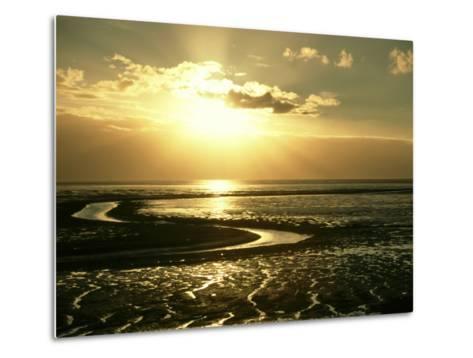 The Wash at Sunset, View Across Mudflats and Channels Snett Isham, North Norfolk-Mark Hamblin-Metal Print