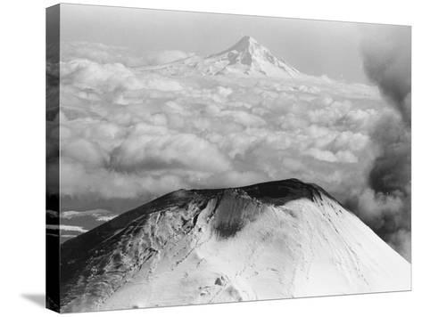 Craters Atop Mount St. Helens Stand Silent--Stretched Canvas Print