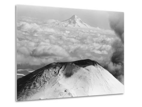 Craters Atop Mount St. Helens Stand Silent--Metal Print