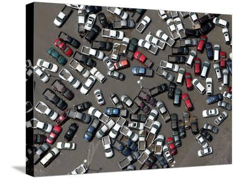 Vehicles Damaged by Hurricane Katrina--Stretched Canvas Print