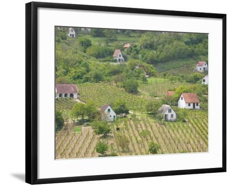 Vineyard View from Calvary Hill, Southern Transdanubia, Hungary-Walter Bibikow-Framed Art Print