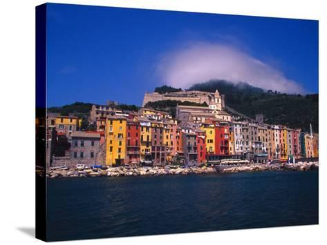Colorful Buildings on Waterfront of Portovenere, Italy-Julie Eggers-Stretched Canvas Print