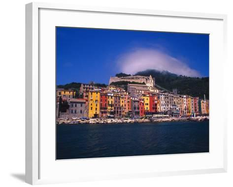 Colorful Buildings on Waterfront of Portovenere, Italy-Julie Eggers-Framed Art Print