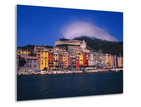 Colorful Buildings on Waterfront of Portovenere, Italy-Julie Eggers-Metal Print